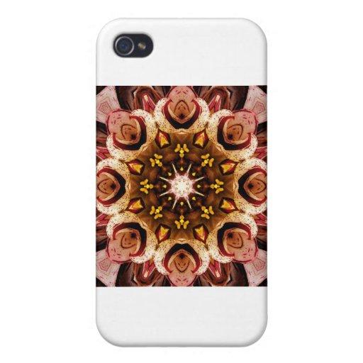 Mandala de la flor iPhone 4 funda