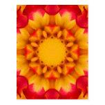 Mandala de la flor postales