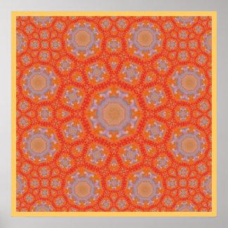 Mandala de la flor póster