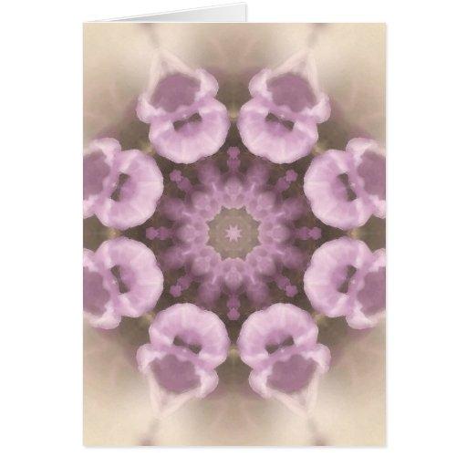 Mandala de la flor tarjeta de felicitación