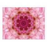 Mandala de la flor tarjetas postales