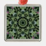 Mandala de la foto del cardo ornaments para arbol de navidad