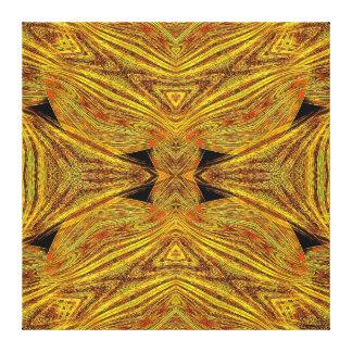 Mandala de la fruta cítrica ondulada impresiones en lona estiradas