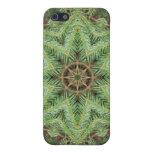 Mandala de la guirnalda del pino del navidad iPhone 5 cobertura
