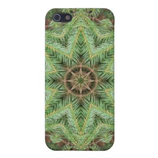 Mandala de la guirnalda del pino del navidad iPhone 5 funda