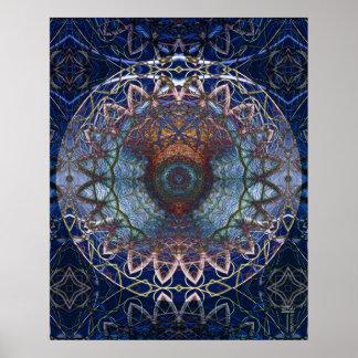 Mandala de la impresión del arte de Web de Noedic Póster