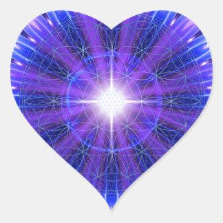 Mandala de la intuición pegatina en forma de corazón