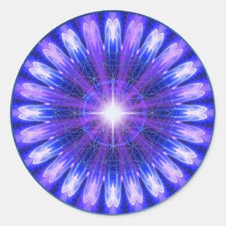 Mandala de la intuición pegatinas redondas