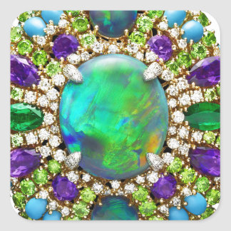 Mandala de la joyería pegatina cuadrada
