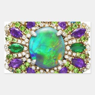 Mandala de la joyería pegatina rectangular