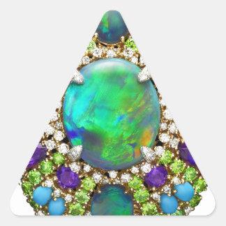 Mandala de la joyería pegatina triangular