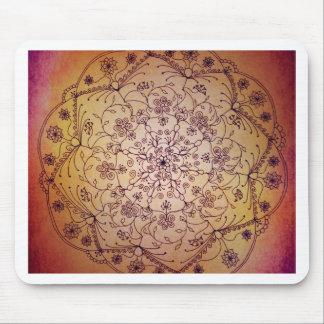 Mandala de la luna de cosecha - tonos de la joya alfombrilla de ratones