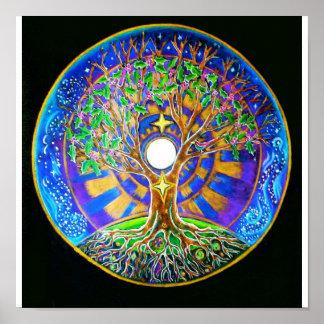 Mandala de la Luna Llena Impresiones