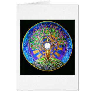 Mandala de la Luna Llena Tarjeta