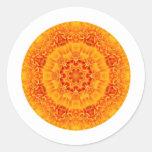 Mandala de la maravilla etiquetas redondas