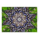 Mandala de la mariposa de Swallowtail - tarjeta