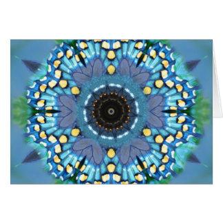 Mandala de la mariposa tarjeta de felicitación