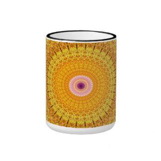 Mandala de la mariposa taza de dos colores