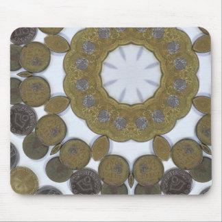 Mandala de la moneda alfombrilla de ratón