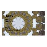 Mandala de la moneda tarjetas de visita
