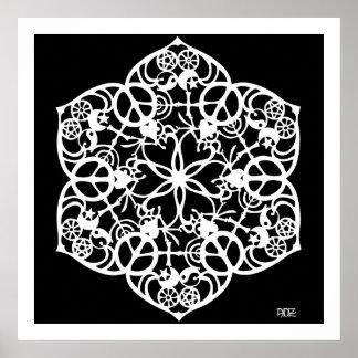 Mandala de la paz poster