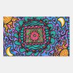 Mandala de la paz pegatina rectangular
