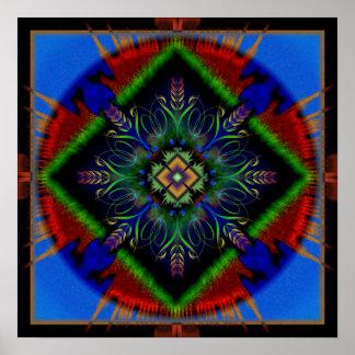 Mandala de la paz póster