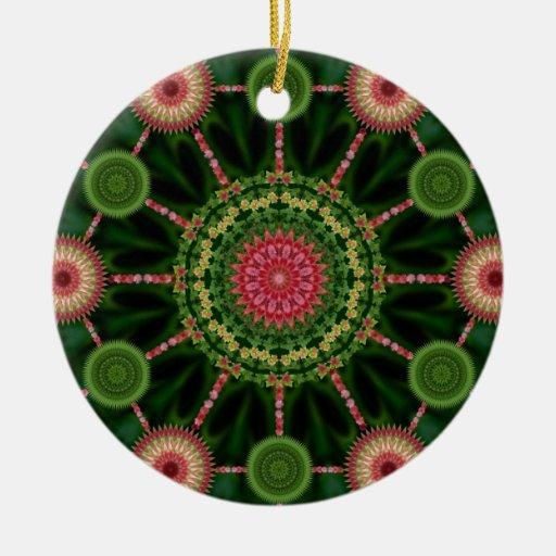 Mandala de la planta de hielo y ornamento del navi adorno de navidad