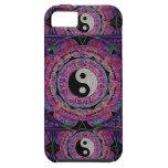 Mandala de la púrpura de la armonía y de la balanz iPhone 5 protectores