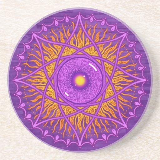 mandala de la púrpura del osholo posavaso para bebida