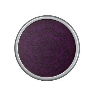 Mandala de la púrpura real y del negro altavoz bluetooth