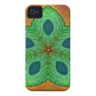 Mandala de la semilla cristalina iPhone 4 Case-Mate protector