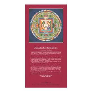 Mandala de la TARJETA de Chenrezig/de Avalokiteshv Plantilla Para Tarjeta De Foto