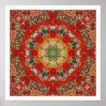 Mandala de la teja de la India Posters
