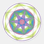 Mandala de la transformación pegatina redonda