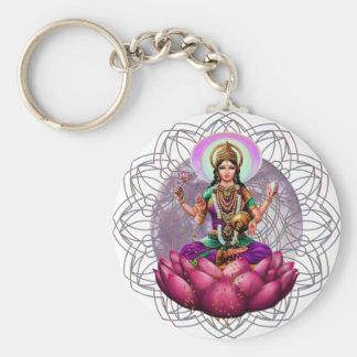 Mandala de Lakshmi de la diosa Llavero Personalizado