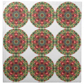 Mandala de las bayas del acebo - servilletas del