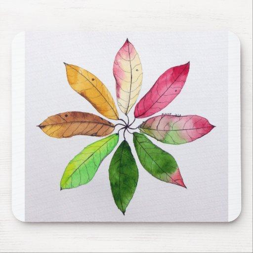 Mandala de las hojas Mousepad