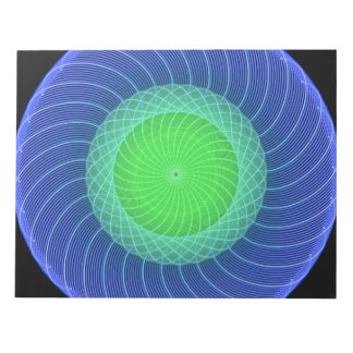Mandala de las ondulaciones blocs de papel