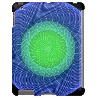 Mandala de las ondulaciones funda para iPad