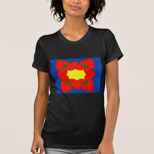 Mandala de los corazones del amor camisetas