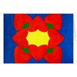 Mandala de los corazones del amor tarjetas
