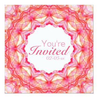 Mandala de los corazones invitación 13,3 cm x 13,3cm
