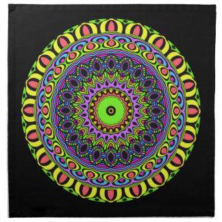 Mandala de los dardos - neón 1 servilletas