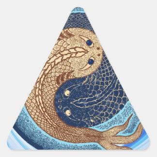 Mandala de los pescados de Yin Yang Koi Calcomania Trianguladas Personalizadas