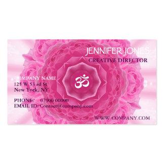 Mandala de los rosas, tarjeta de visita