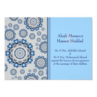 Mandala de Lotus (alheña) (azul) (boda) Invitación Personalizada