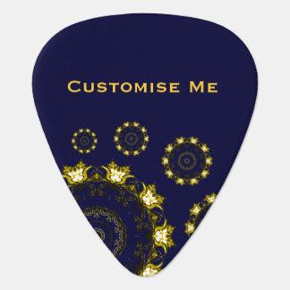 Mandala de Lotus (alheña) (de oro) Púa De Guitarra
