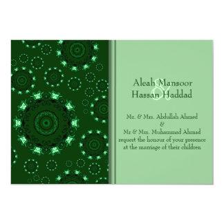 Mandala de Lotus (alheña) (verde) (boda) Invitaciones Personales