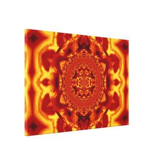 Mandala de Lotus en los pasteles profundos C1 SDL Impresión En Tela
